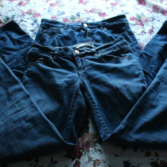 2 pairs mid-rise garage jeans